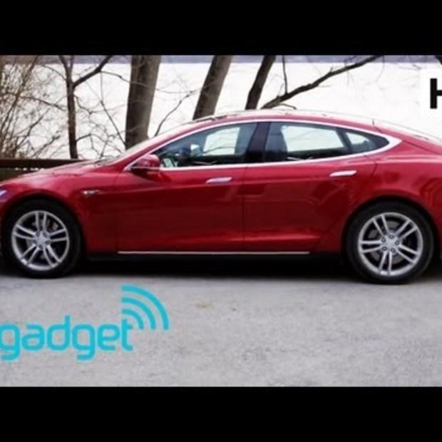 Tesla Model S review door Engadget