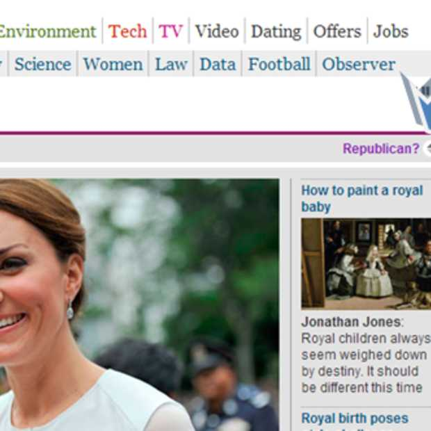 The Guardian beschermt Republikeinen tegen Royal baby-nieuws