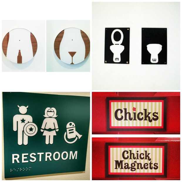 De 16 meest grappige toiletbordjes