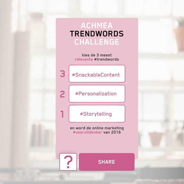 Achmea Trendwords Challenge 2016, de winnaars