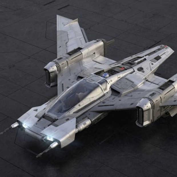 Tri-Wing S-91x Pegasus Starfighter bedacht door Porsche en Starwars