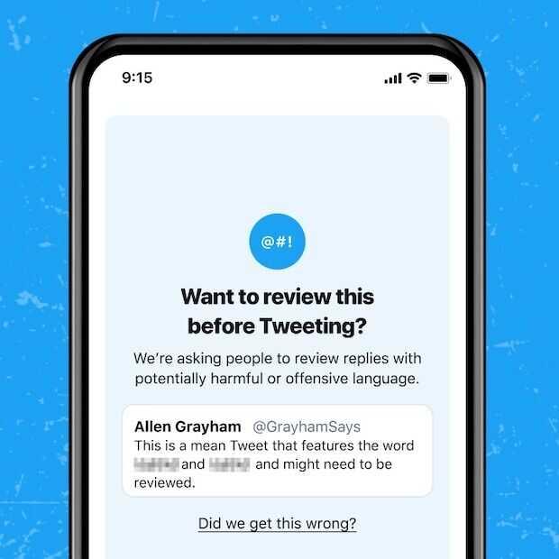 Twitter verbetert 'denk effe na voordat je dit tweet' functie