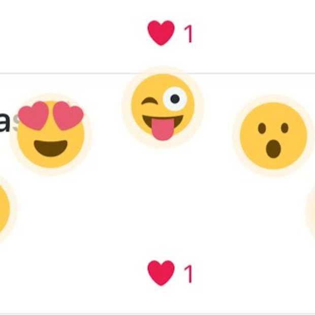 Twitter test emoji als reactie op tweets