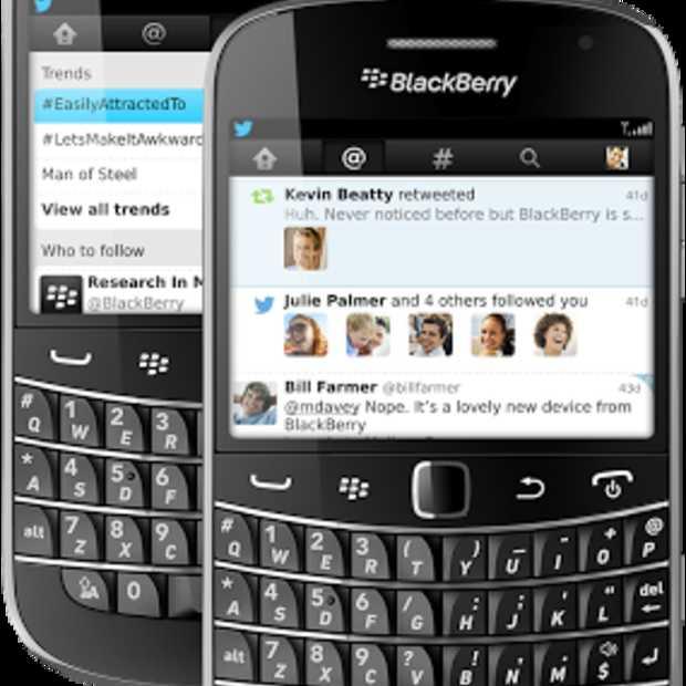 Twitter komt met update voor de BlackBerry-app