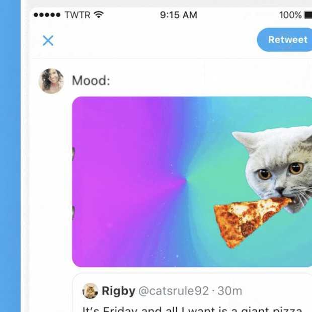 Twitter geeft Retweets een upgrade door toevoegen van foto's, video's en GIFs