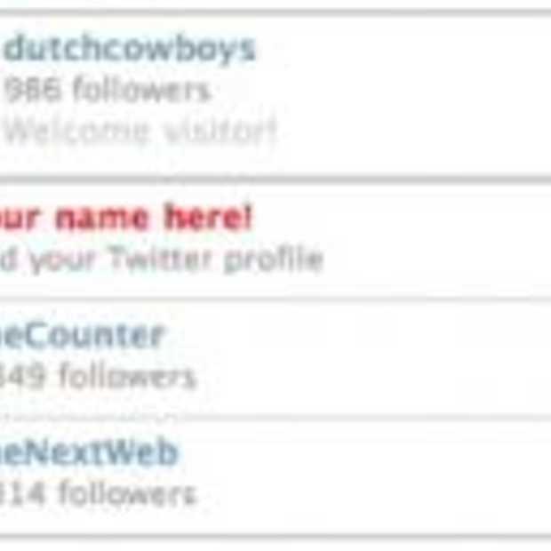 TwitterRemote toont je Twitter bezoek