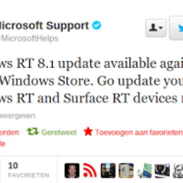 Upgrade Microsoft's Windows 8.1 RT weer beschikbaar