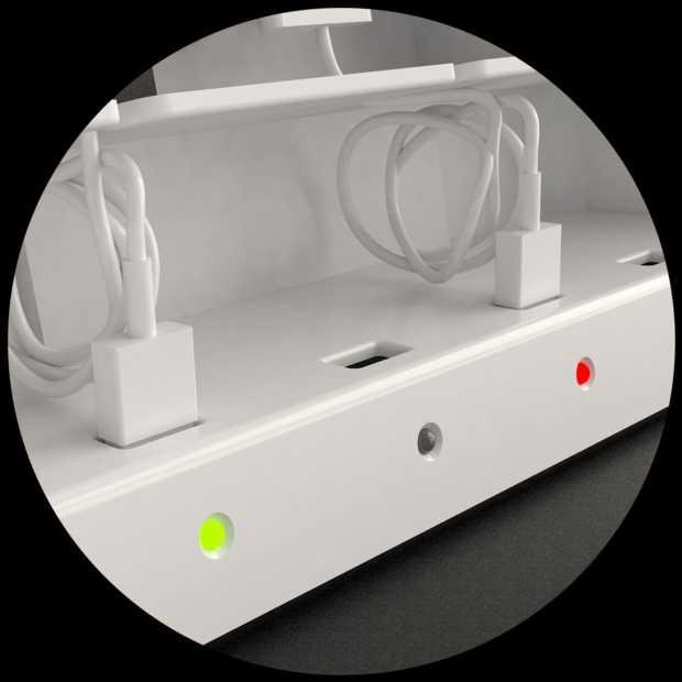 USB multi-charger StashGo4 laadt 4 mobiele devices tegelijk