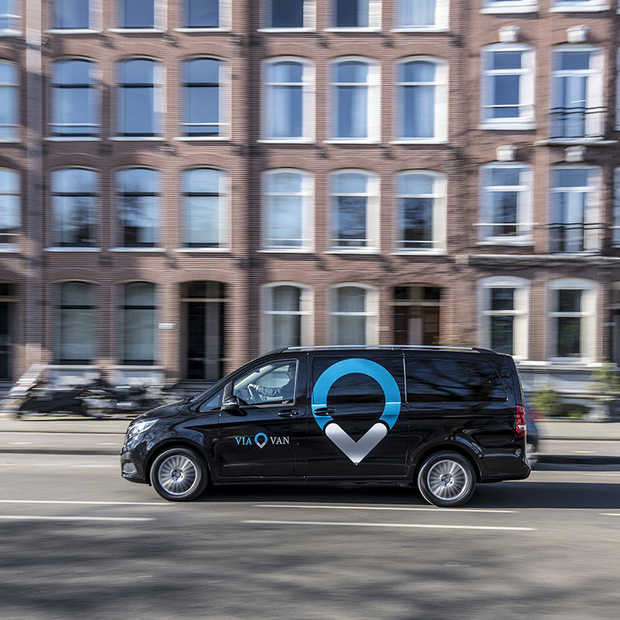 ViaVan, een on-demand shared riding service, start in Amsterdam