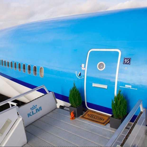 De overnachting van je dromen: KLM zet volledig ingericht vliegtuig op Airbnb