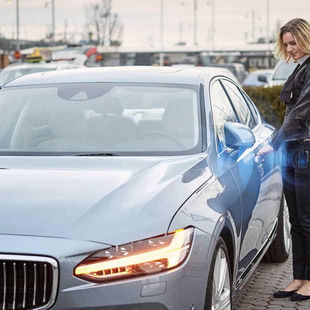 Volvo gaat auto's leveren zonder fysieke sleutel