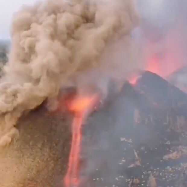 Vulkanisch spektakel op het Canarische eiland La Palma wordt groter en heftiger