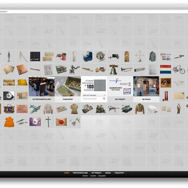 Webby Award voor de online tentoonstelling 'De Tweede Wereldoorlog in 100 voorwerpen'