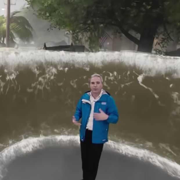 Dit hele enge weerbericht laat zien hoe heftig een orkaan wordt
