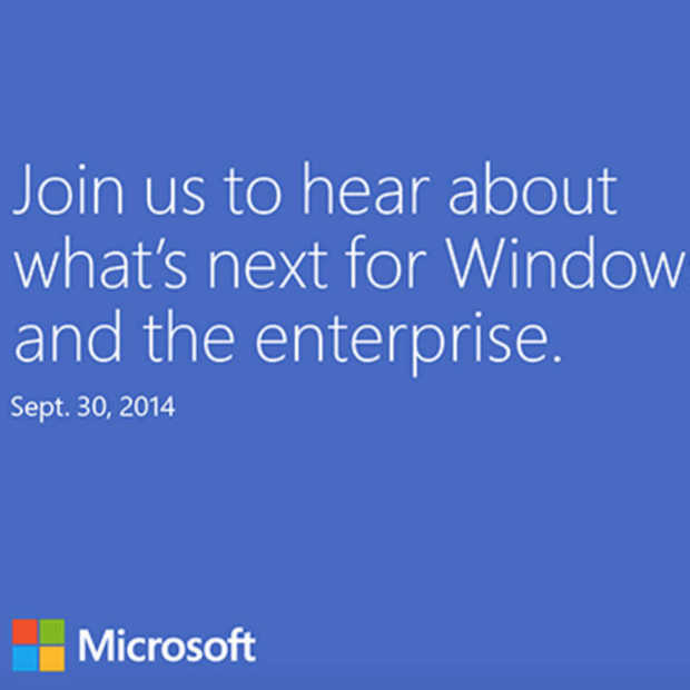 It's official: Windows 9 event op 30 september