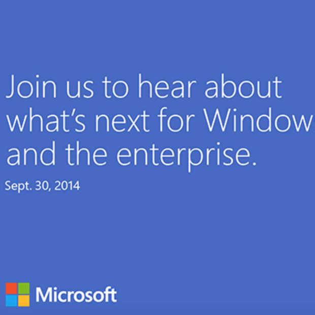 It's official: Windows 9 event op 30 september