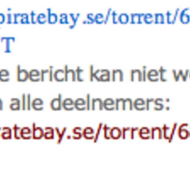 Windows Live Messenger blokkeert Pirate Bay links