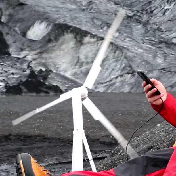 Draagbare Wind Turbine blijkt succes op Kickstarter