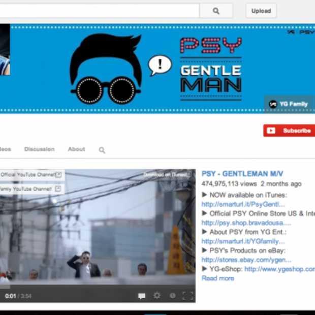 YouTube-kanaal Psy bereikt 3 miljard views