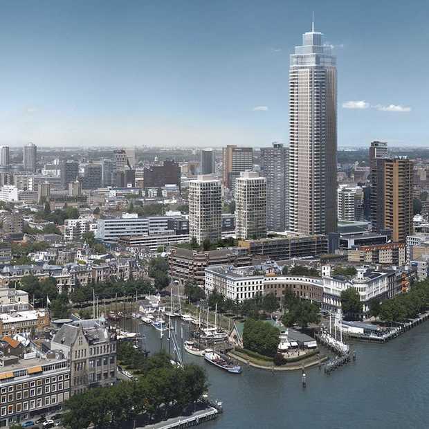 Bouw hoogste woontoren van de Benelux in volle gang