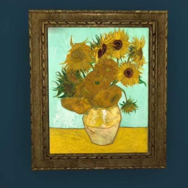 Je kunt de zonnebloemen van Van Gogh nu live op Facebook zien